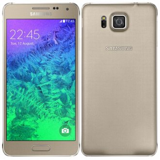 Samsung - Galaxy Alpha 4G Cell Phone - Gold (AT&T)