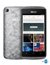 "BLU Diamond M D210U 4GB 3G Silver Unlocked Cell Phone 5"" 512MB R"