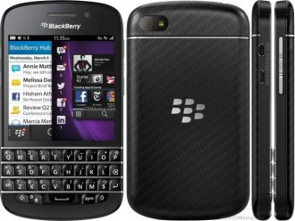 BlackBerry Q10 Smart Phone - Black - Verizon Wireless - LTE