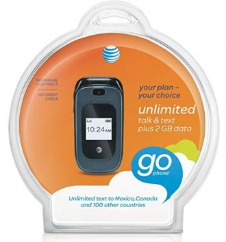 AT&T Z222 GoPhone - Black - AT&T - GSM