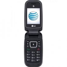 LG B470 Mobile Phone - 256 MB - Black - AT&T