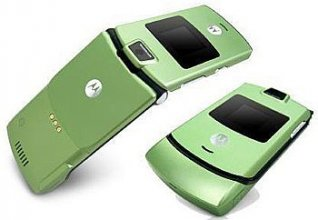 Motorola V3 Gsm Un-locked (LIME)