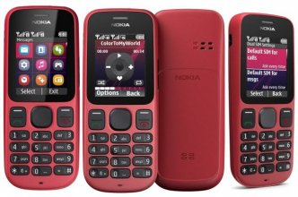 Nokia 101 Gsm Un-locked Dual SIM FM Radio Flash Light (Red)