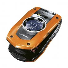 Orange - Casio G'zOne Boulder C711 Cell Phone, Rugged, Flip, Blu