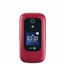 Doro 7050 - 512 MB - White, Burgundy - Unlocked - GSM