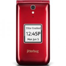 Jitterbug Flip Easy-to-Use Cell Phone - Red