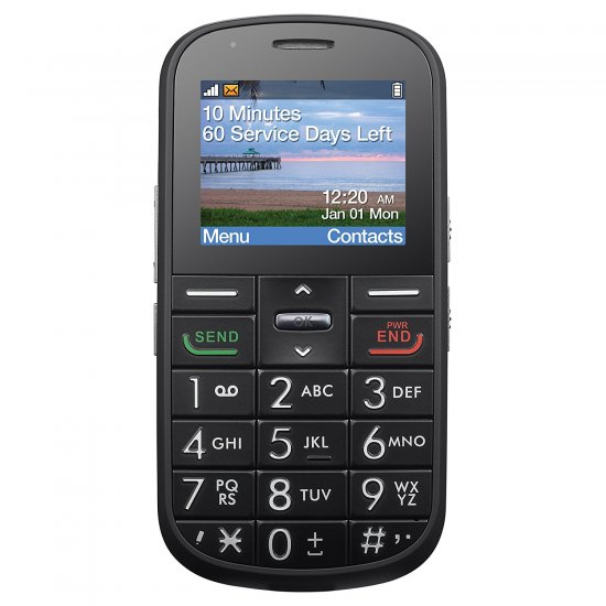 Alcatel A382G The Big Easy - Black - TracFone - GSM - Click Image to Close