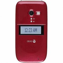Consumer Cellular Doro 626 Flip Phone - Burgandy - Unlocked - GS