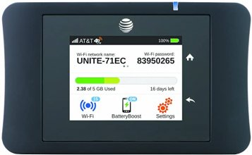 at & T Mobile Hotspot MiFi at Unite Pro Black