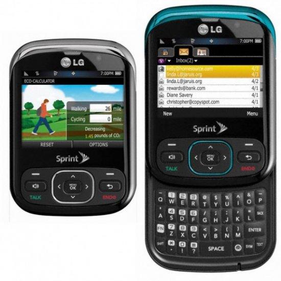 lg remarq ln240 cdma sprint qwerty keyboard black ln240 96 00 rh electronicsforce com New LG Phones for Sprint Sprint LG Cell Phones