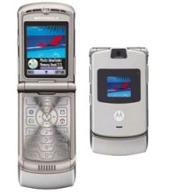 Motorola V3 RAZR No Contract Cell Phone GSM Un-locked (SILVER)