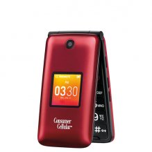 Consumer Cellular Go Flip Cell Phone - Red