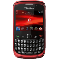 RIM BlackBerry Curve 3G 9300 Black WiFi GPS 4GB (RED)
