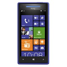 HTC - Windows Phone 8x 4G 16GB (GSM Un-locked) - Blue