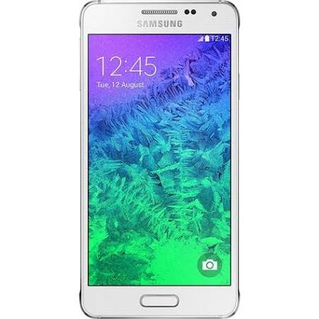 Samsung Galaxy Alpha SM-G850 Phone - 32 GB - White - Unlocked - Click Image to Close