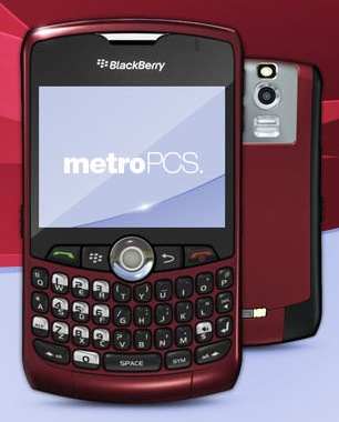 BlackBerry CURVE 8330 Metro pcs (RED)