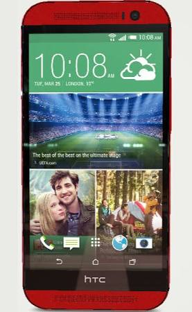HTC - One (M8) 4G LTE Cell Phone - Red - Click Image to Close
