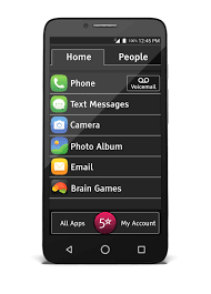 Jitterbug Great Call - Smart Easy-to-Use 4G - Black